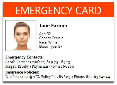 Printable Emergency Card Template Faq About Health Log App Goopatient Letter Template Word Card Template Newsletter Templates Word
