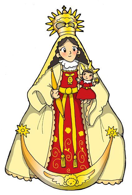 Coleccion De Gifs Imagenes De La Virgen Maria Para Colorear Virgen De Las Mercedes Silueta De Oso Imagenes De La Virgen