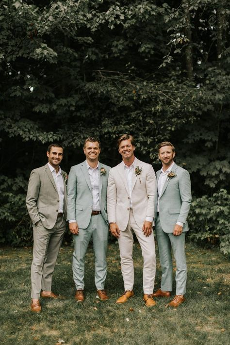 Romantic New England Forest Wedding at The Barn on Walnut Hill - wedding groomsmen Forest Wedding, Wedding Men, Boho Wedding, Dream Wedding, Wedding Ideas, Party Wedding, Wedding Cakes, Wedding Rings, Best Man Outfit Wedding