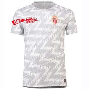 best cheap 46b47 9245d 2018-19 Cheap Pre-Match Jersey AS Monaco Replica Grey ...