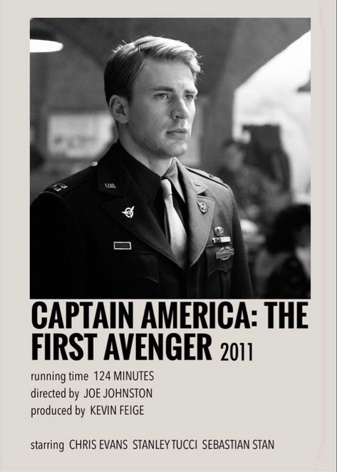 Captain America: The First Avenger polaroid poster