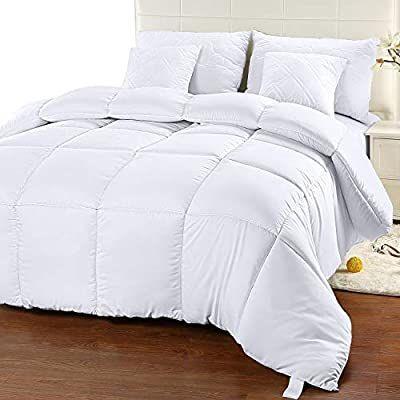 Amazon Com Utopia Bedding Comforter Duvet Insert Quilted Comforter With Corner Tabs Box Stitched Down Alte Bed Comforters Duvet Comforters Cool Comforters