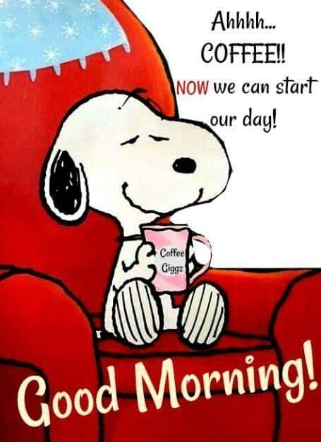 Ahhh...coffee. Now we can start our day!