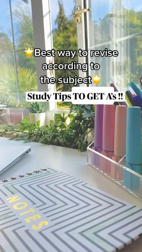 Study Tips TO GET A's !!   How to revise according to the subject   A levels Gcse Psychology Biology