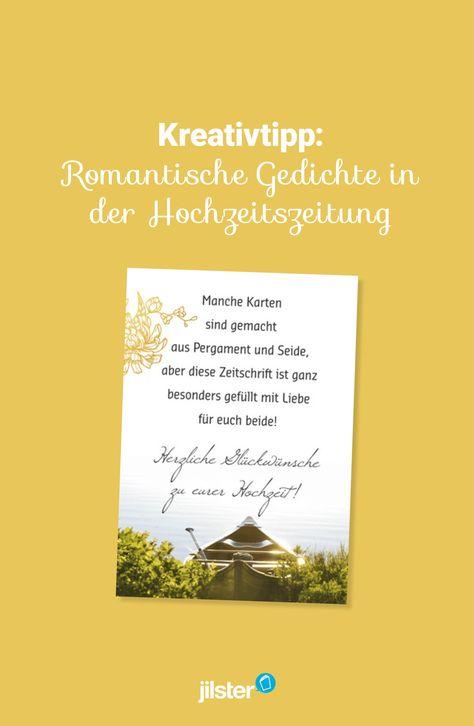 Tipp Romantische Gedichte In Der Hochzeitszeitung Jilster