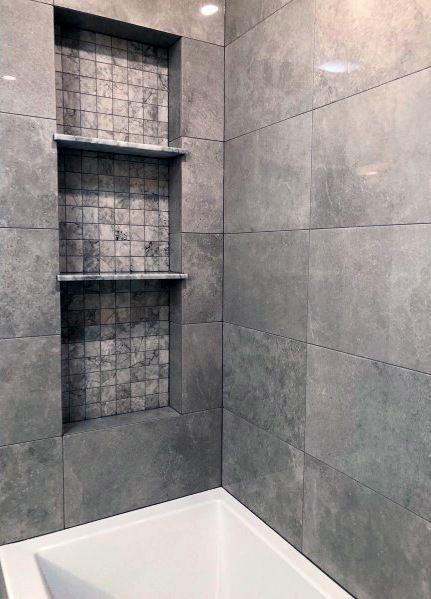 Top 70 Best Shower Niche Ideas Recessed Shelf Designs Shower Niche Bathroom Interior Design Recessed Shelves