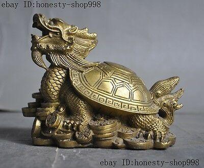 Feng Shui Jade Turtle Statue Money Fengshui Coins