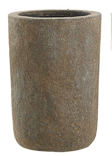 Esteras 800096 2 Teiliges Blumenkubel Set Saulenform Edelrost