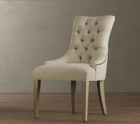 Upholstered Dining Room Chairs   The chiar was inspired by a French design and feature a elegant yet ...