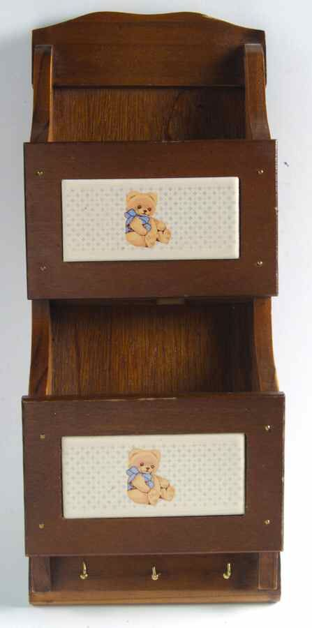 Country Bear Double Letter Key Rack Wooden By Tienshan Key Rack Country Bears Wooden