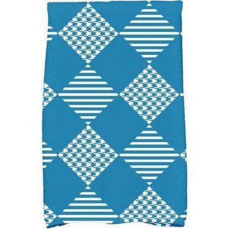 Simply Daisy 16 X 25 Check It Twice Holiday Geometric Print Kitchen Towel Walmart Com Blue Towels Hand Towels Towel Pattern