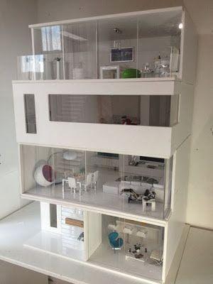 Casa De Munecas Moderna Muebles Para Munecas Muebles Para Maquetas Casas Para Barbies