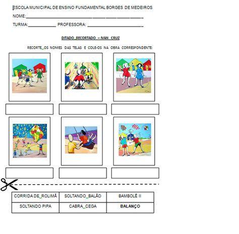 Imagem Aulas De Artes Visuais Atividades De Alfabetizacao