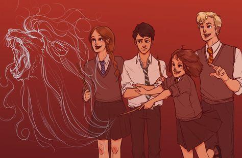 Teach us something please! by batcii.deviantart.com on @deviantART | The Penvensies at Hogwarts
