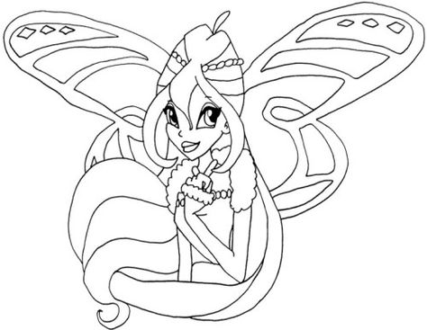 Face Bloom Winx Club Coloring Pages Boyama Sayfalari