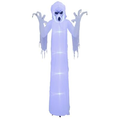 Home Accents Holiday 12 Ft Pre Lit Inflatable Short Circuit Frightening Reaper Airblown 220274 The Home Depot Inflatable Home Accents Frightening