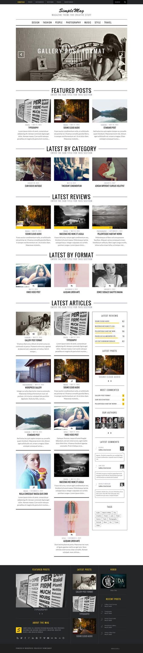 Simple Mag – Blog WordPress Theme for Online Magazines