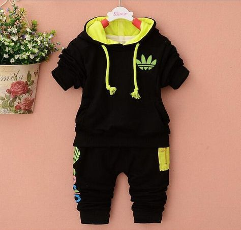 HOT baby Boys clothes suit baby Girls clothing sets sport