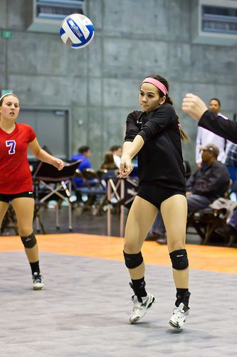 Forearm Pass A Volleyball Better With This Ball Control Passing Guide Volleyball Basketball Girls Coaching Volleyball