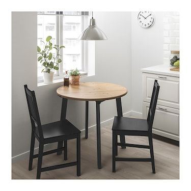 Chairs Ikea Small Dining Table, Small Black Kitchen Table And 2 Chairs