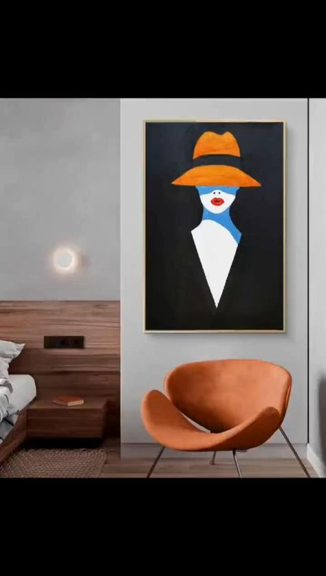 Abstract painting simple painting, easy graphics