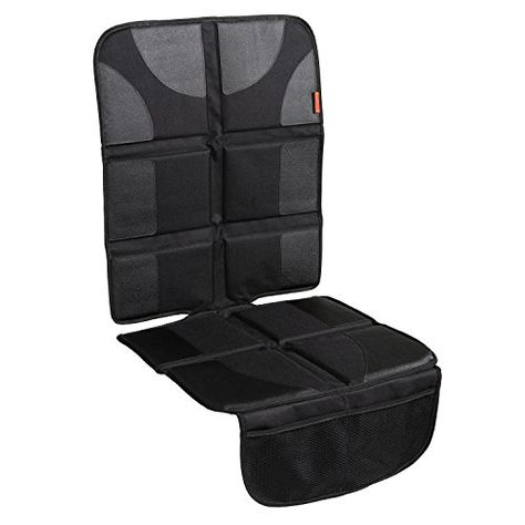 HIPPIH Waterproof Seat Protector with Thickest Padding for Baby Car Black Car Seat Protector 2 Pack