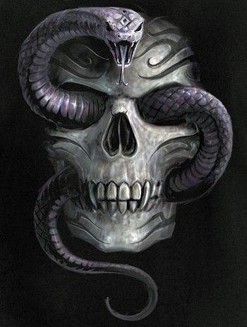 Serpiente y calavera  Tatuajes  Pinterest  Tattoo Snake and