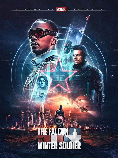 The Falcon and the Winter Soldier by Nicolas Tetreault-Abel - Home of the Alternative Movie Poster -AMP-