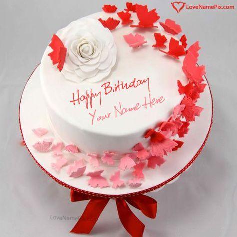 Awesome Birthday Cake Online Editing Option With Name Photo Happy Personalised Birthday Cards Arneslily Jamesorg