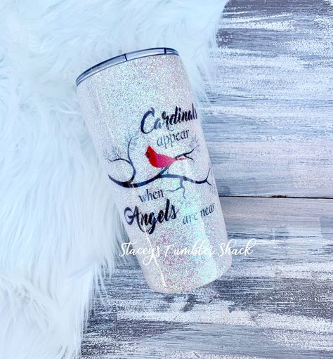 Glitter Tumbler Cardinals Angels Opal Glitter lost loved ones tumbler cardinals appear when angels are near tumbler for grandparents Diy Tumblers, Custom Tumblers, Glitter Tumblers, Glitter Cups, Girls Tumbler, Tumbler Cups, Girl Friendship Quotes, Funny Friendship, Bff Quotes