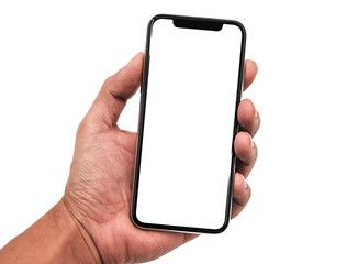 Smartphone Similar To Iphone 11 Pro Max With Blank White Screen