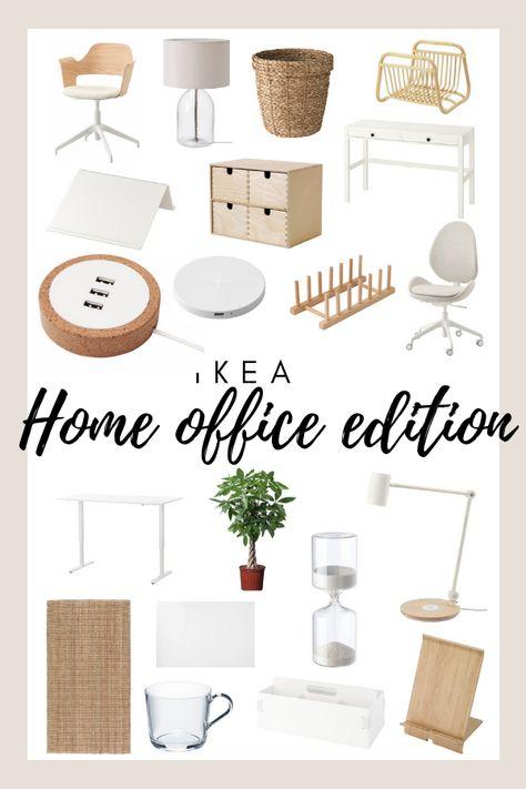 Ikea Home Office, Home Office Space, Home Office Design, Ikea Work Desk, Ikea Office Storage, Ikea Must Haves, Ideas Para Organizar, Guest Room Office, Home Decor Inspiration