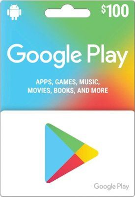 Google Play 100 Gift Card Google Play 2017 100 With Images