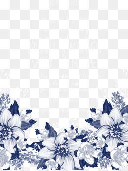 Blue Flowers Flowers Wedding Invitations Wedding Invitation Blue Vector Flowers Vector Invitations Ve Blue Flower Png Free Watercolor Flowers Flower Png Images