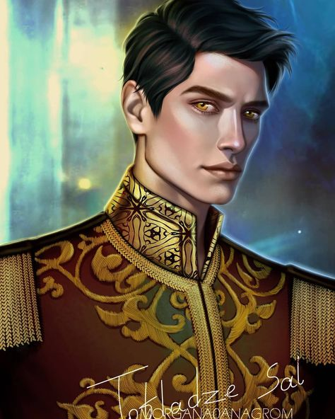 """It was time to paint this handsome fella 😁 painted Tiberias """"Cal"""" Calore from Red Queen book Series by @victoriaaveyard hope you guys will like it xoxo #calcalore #tiberiascalore #redqueen #glasssword #kingscage #warstorm #fanart #books #bookcharacter #bookillustration #illustration #characterdesign #digitalartist #artistsoninstagram"""
