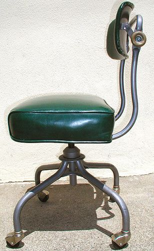 vintage steelcase c 31 rolling office chair mid cent modern dk green