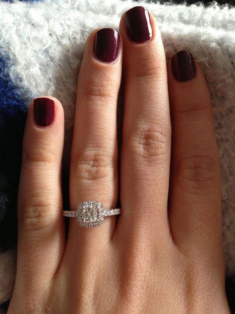 My engagement ring.  Vera Wang by Zales #cushioncutrings