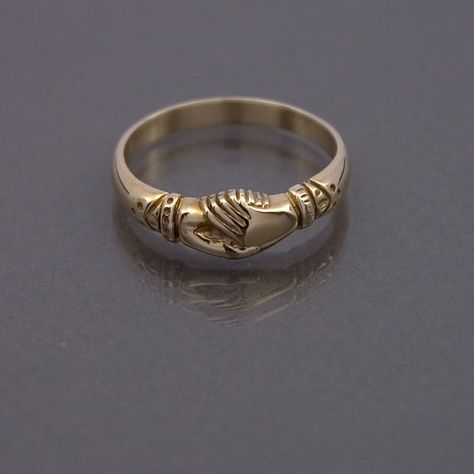 Fede ring made to your size in 9ct gold by FedeEtAl on Etsy
