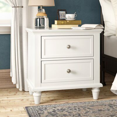 Rae 2 Drawer Nightstand Color Off White 2 Drawer Nightstand Upholstered Panel Bed Drawer Nightstand