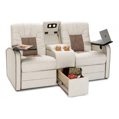 Stupendous Qualitex De Leon Rv Loveseat With Console Rv Cool Rv Creativecarmelina Interior Chair Design Creativecarmelinacom