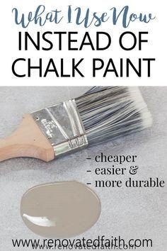 Furniture Painting Techniques, Chalk Paint Furniture, Painted Furniture, White Paint For Furniture, Chalk Paint Brushes, Chalk Paint Cabinets, Chalk Paint Techniques, Chalk Paint Chairs, Repainting Furniture