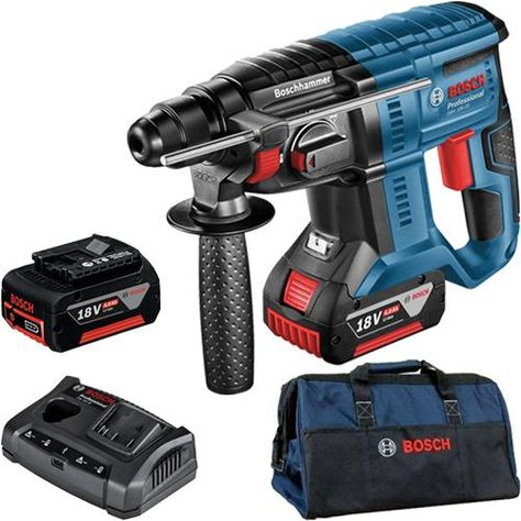 Click To Enlarge Bosch Gbh 18v 20 18v Sds Plus Hammer Drill With Two 4 0ah Batteries Kit Bag Construccion Electricidad Carpinteria