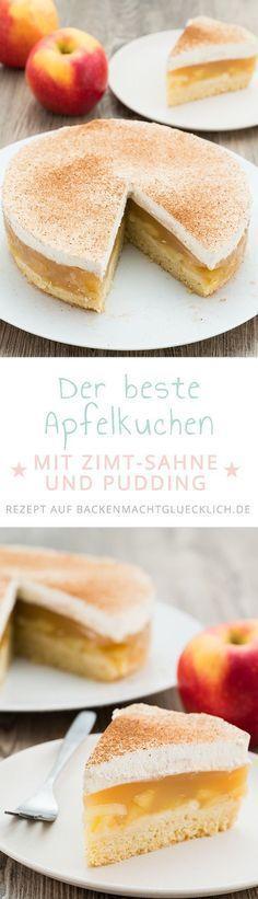 Apple Pie with Cream and Cinnamon | Baking makes you happy - #apple #Baking #cinnamon #cream #Happy #makes #Pie