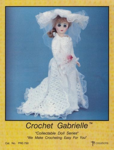 "Gabrielle Bride Dress for 15/"" Fashion Doll Td Creations Crochet PATTERN"