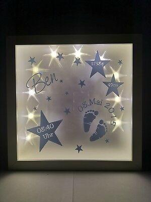 Led Bilderrahmen M Namen Personalisiert Geschenk Geburt Taufe Nachtlicht Geschenke Zur Geburt Bilderrahmen Baby Geschenke