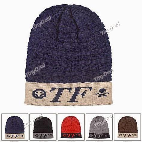 интернет магазины вязаная шапка с надписью Tf из шерстяного