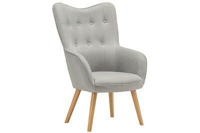 Modern Wingback Occasional Accent Chair Armchair Silver Velvet