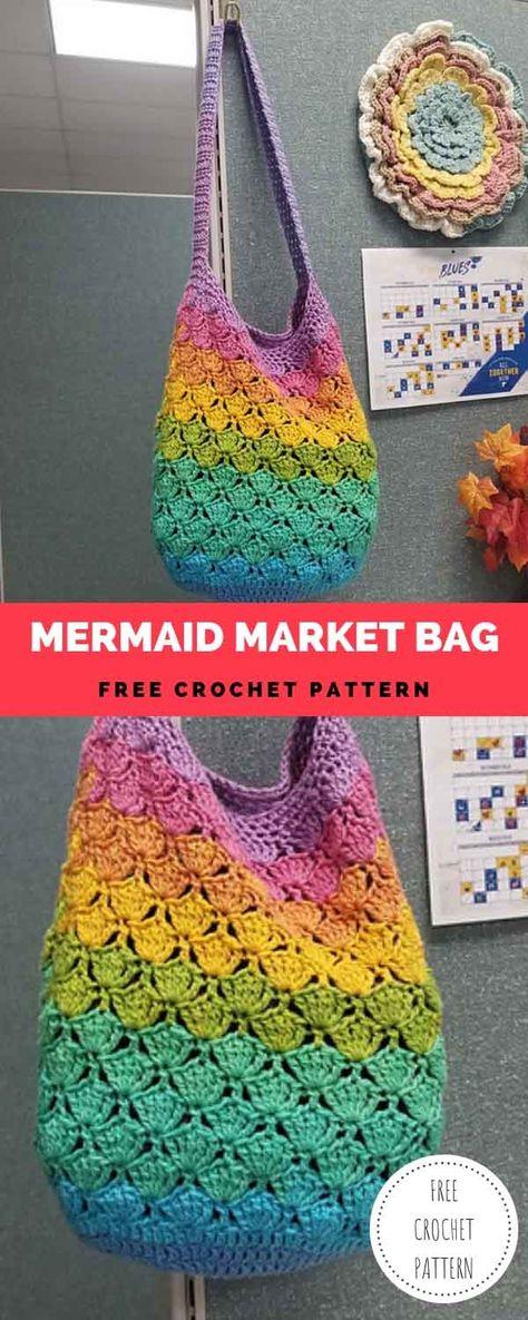 Mermaid Market Bag [Free Crochet Pattern