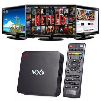 Box Transforma Em Smart Tv Mx9 6 0 Quadcore Android 4k Smart Media