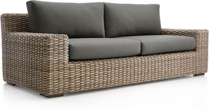 Cayman Lounge Collection Crate And Barrel Outdoor Sofa Sunbrella Cushions Sofa